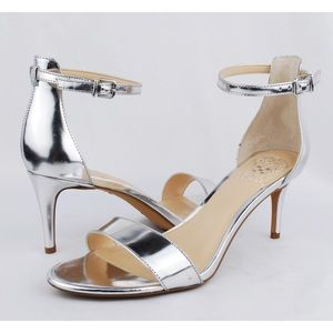 Vince Camuto Silver Stiletto Heels Sandals